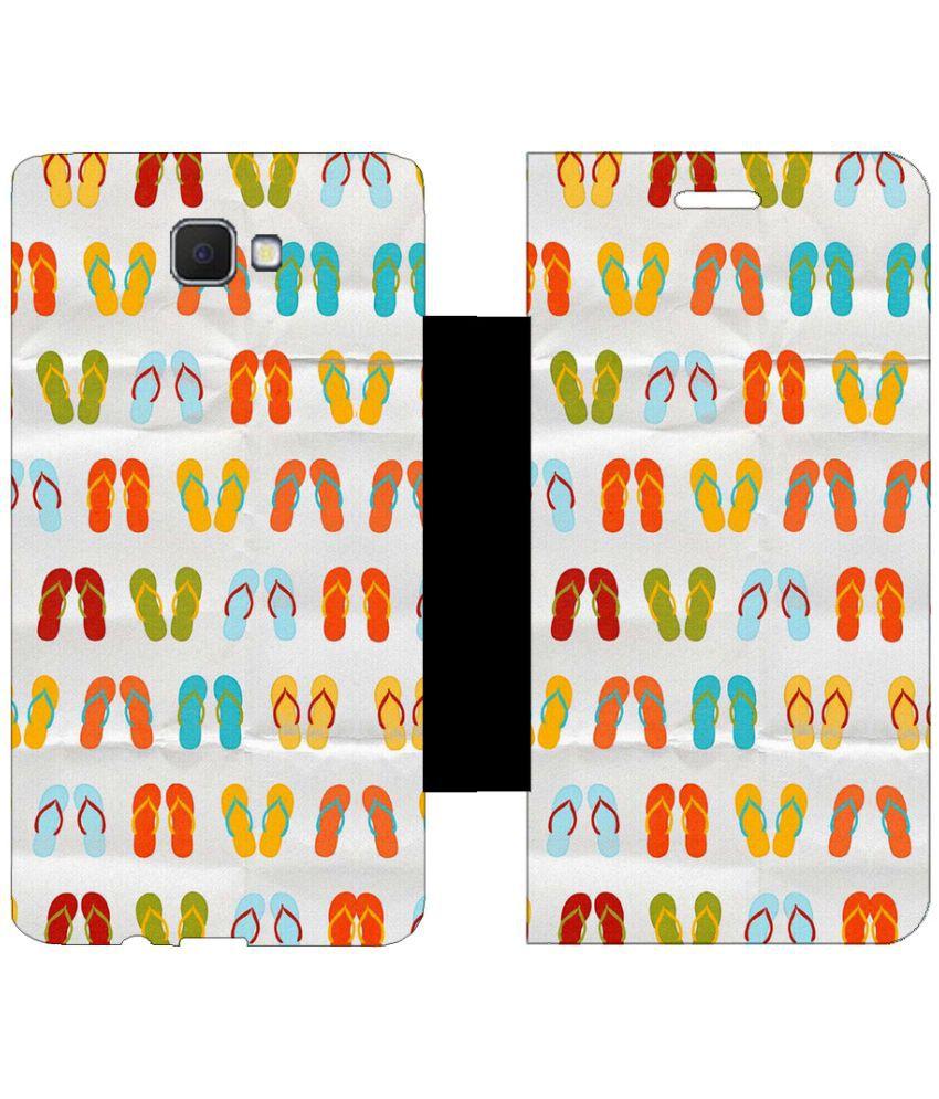 Samsung Galaxy J5 Prime Flip Cover by Skintice - White