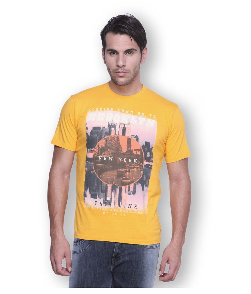 Ferrous Jeans Yellow Round T-Shirt