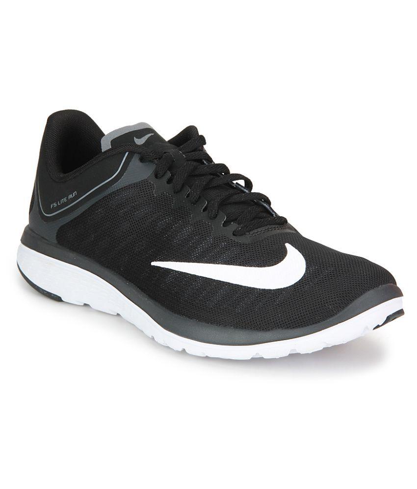 quality design dc3a0 09b51 Nike FS LITE RUN 4 Black Running Shoes