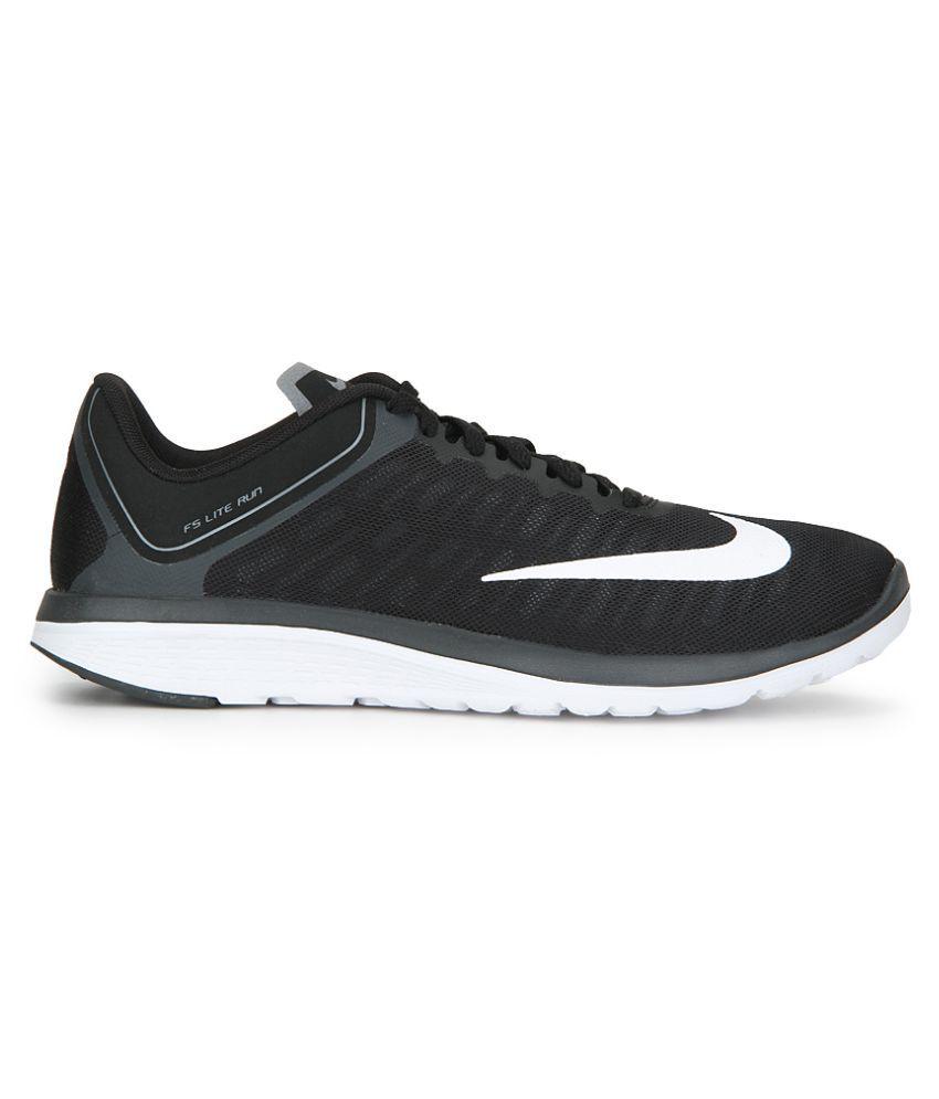81d88eb735c Nike FS LITE RUN 4 Black Running Shoes - Buy Nike FS LITE RUN 4 ...