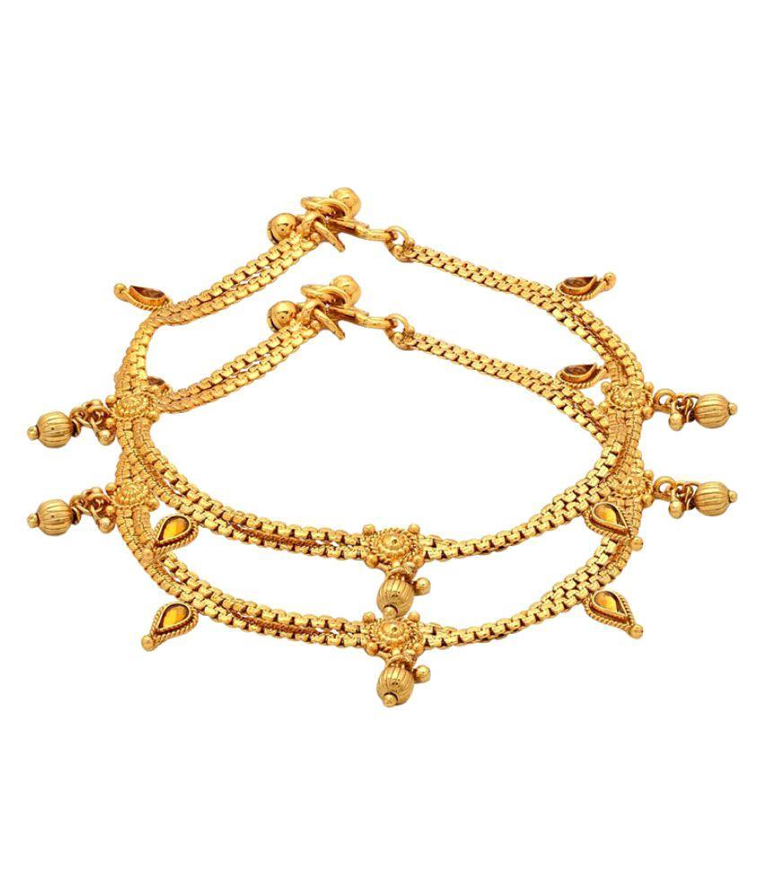 Voylla Golden Anklets