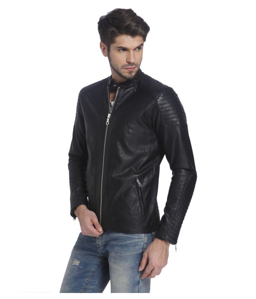 f5f9dec71 Jack & Jones Black Leather Jacket