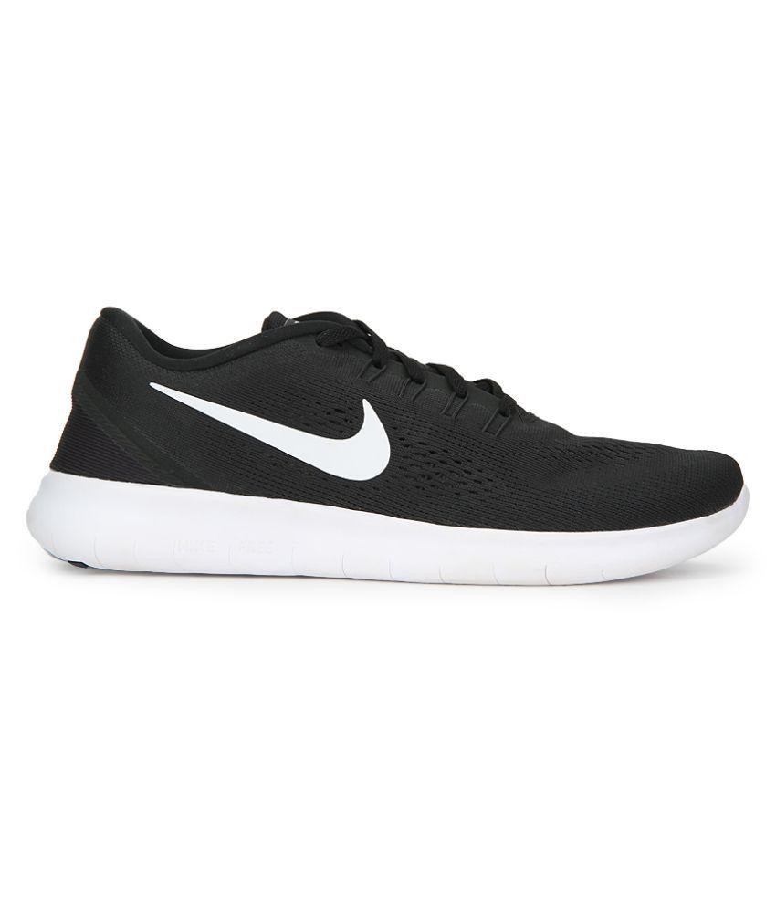 2b2f7d55f16b Nike FREE RN Black Running Shoes - Buy Nike FREE RN Black Running ...