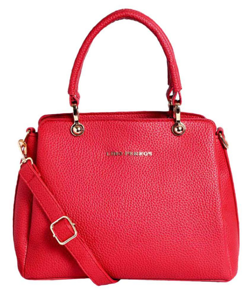 Lino Perros Red Faux Leather Handheld
