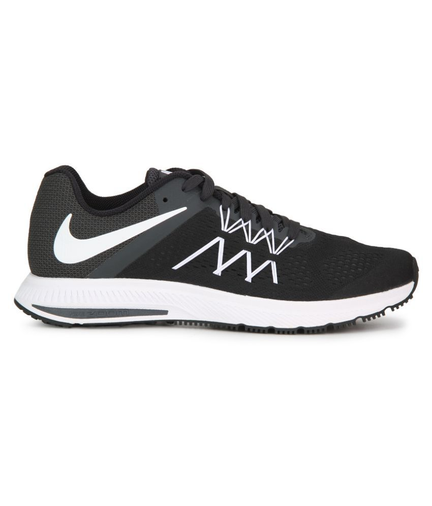 cfc6242ef61f Nike Zoom Winflo 3 Black Running Shoes - Buy Nike Zoom Winflo 3 ...