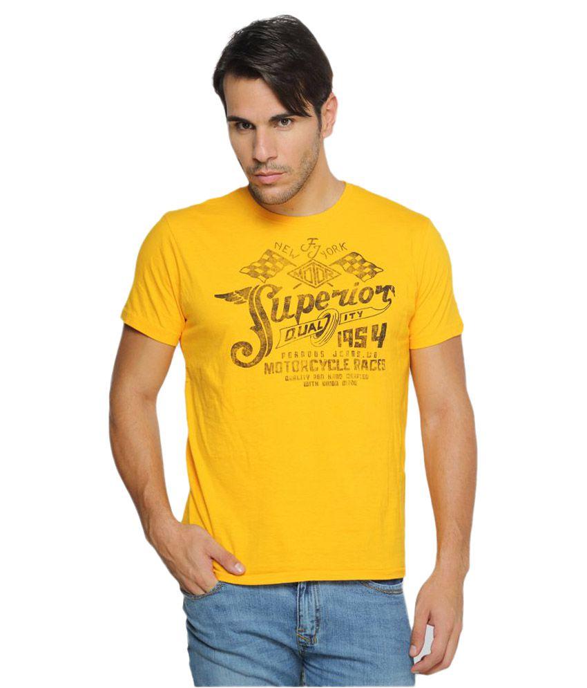 Ferrous Jeans Yellow Round T-Shirt