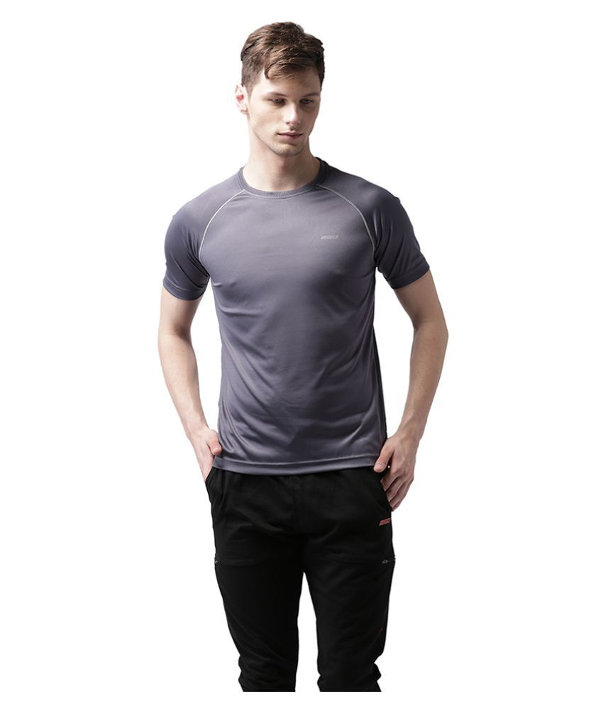 2GO Grey Polyester T Shirt