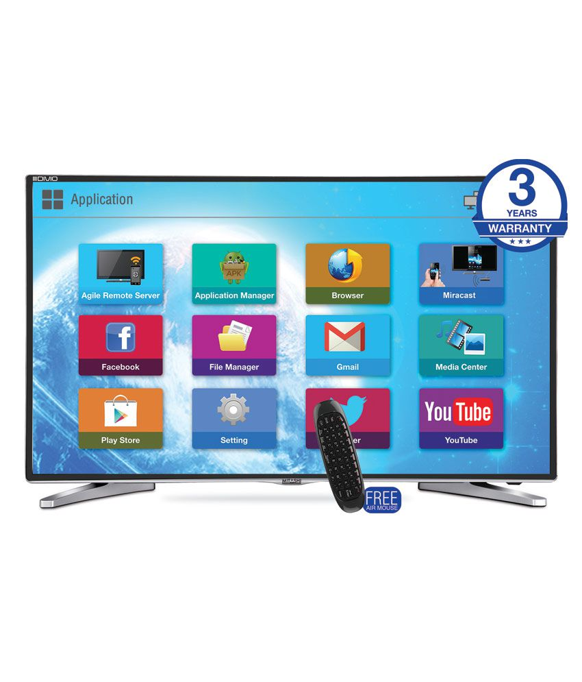 Mitashi MiDE050v02 127 cm (50) Full HD Smart (FHD) DLED Television with FREE air mouse With 3 years warranty
