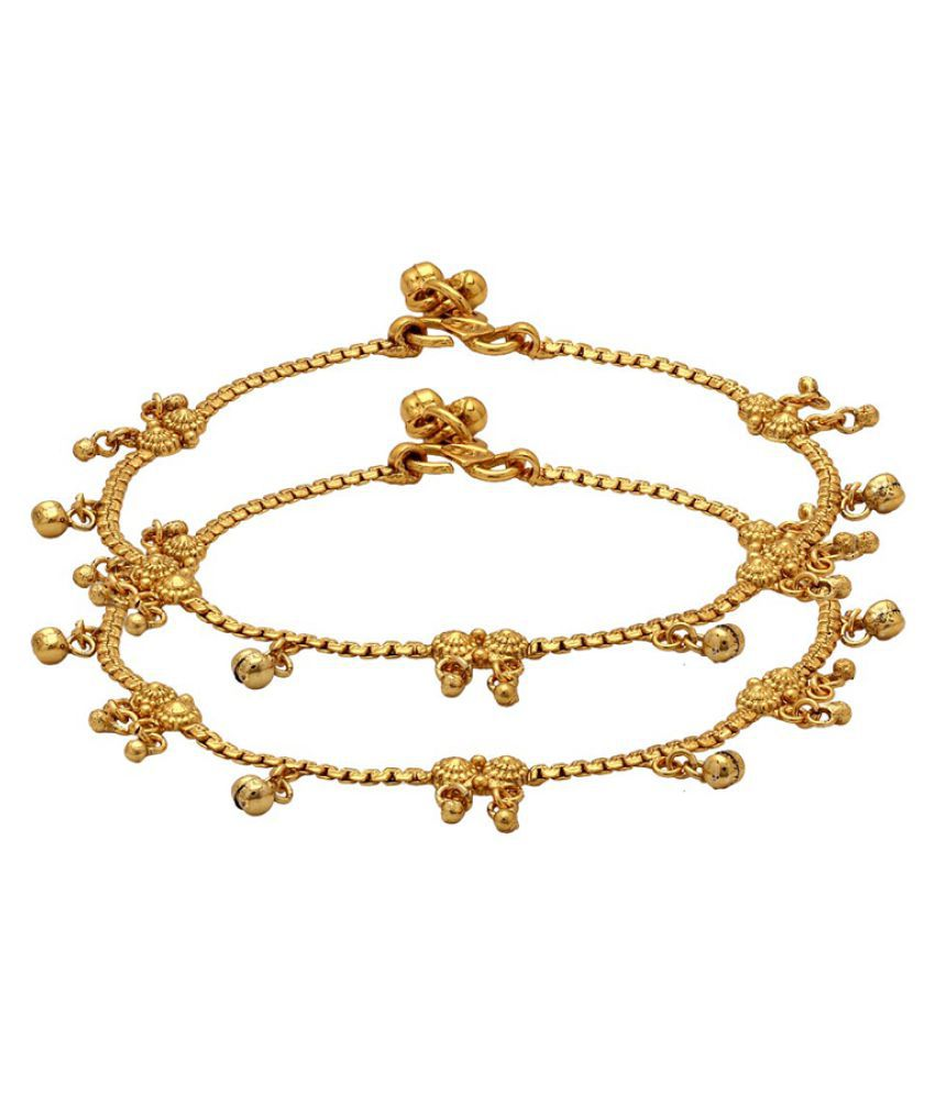 Voylla Gold Plated Anklets