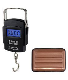 Tuelip Digital Luggage Weighing Scales Weighing Capacity - 50 Kg With Card Holder