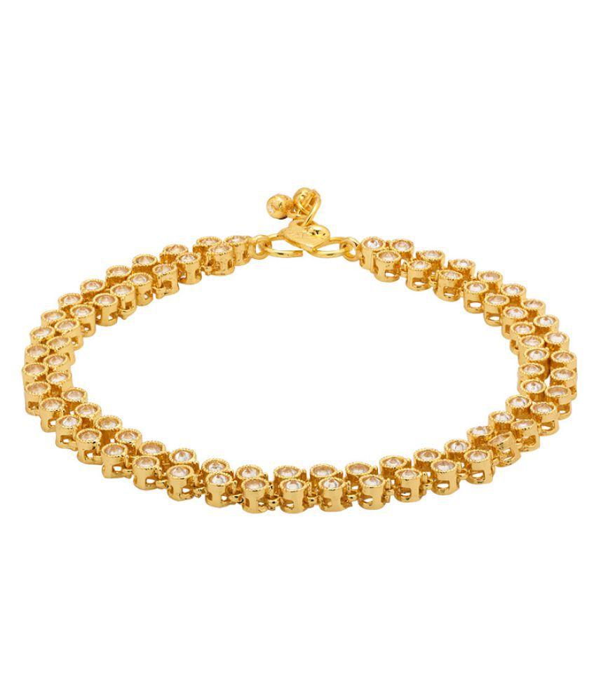 Voylla Golden Alloy Anklet