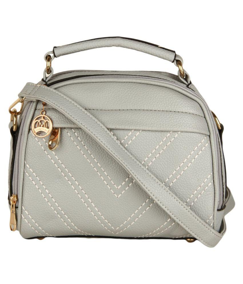 Moedbuille Gray P.U. Sling Bag