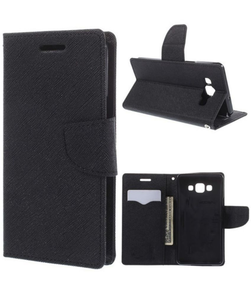 HTC Desire 816 Flip Cover by New Breed - Black