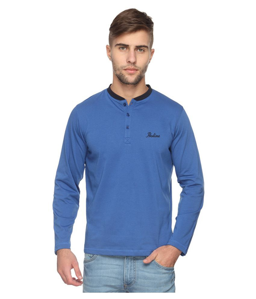 Proline Blue Henley T-Shirt