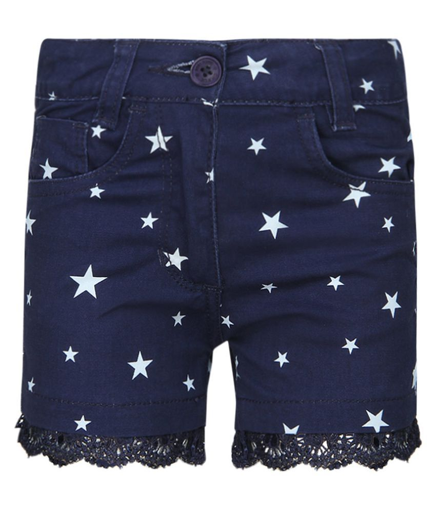 Chalk By Pantaloons Navy Printed Shorts
