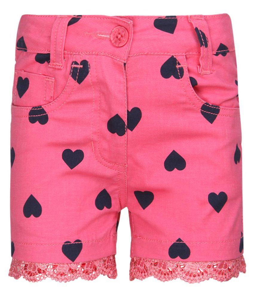 Chalk By Pantaloons Pink Printed Shorts