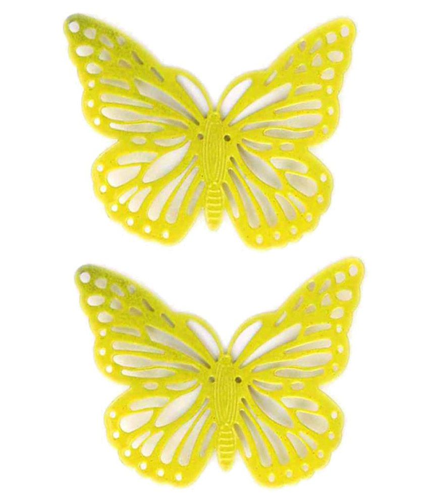 Deziworkz Magnet Butterfly Iron Designer Shape Fridge Magnets Fridge Magnet   Pack of 2
