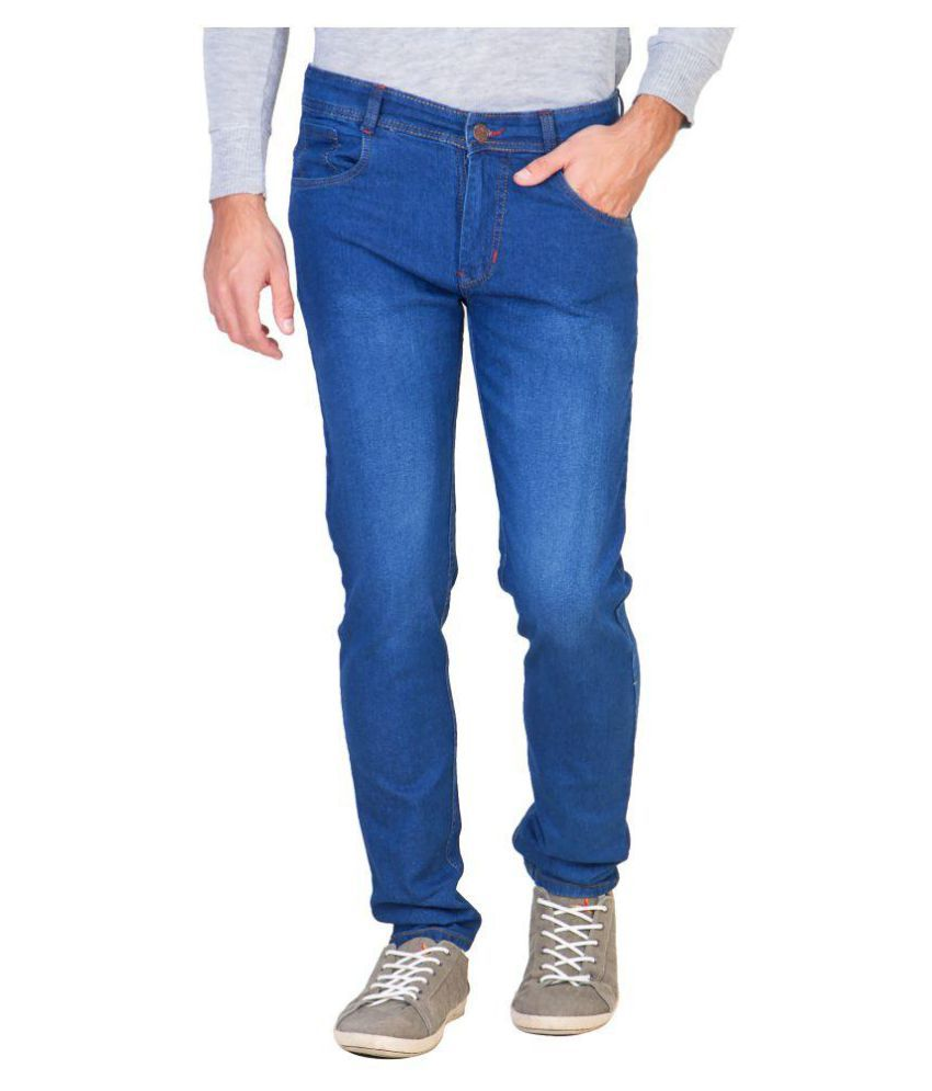 Awadh Dark Blue Slim Jeans