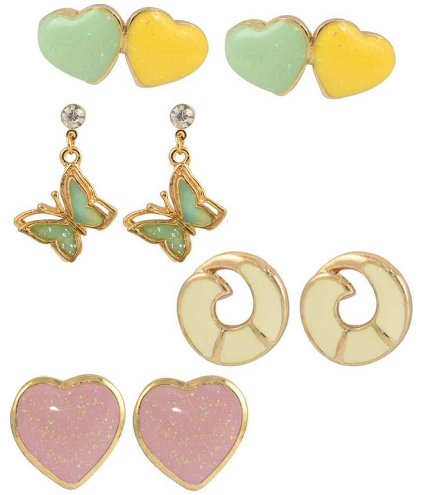 Glitters Online Multicolour Earrings Combo - Pack of 4