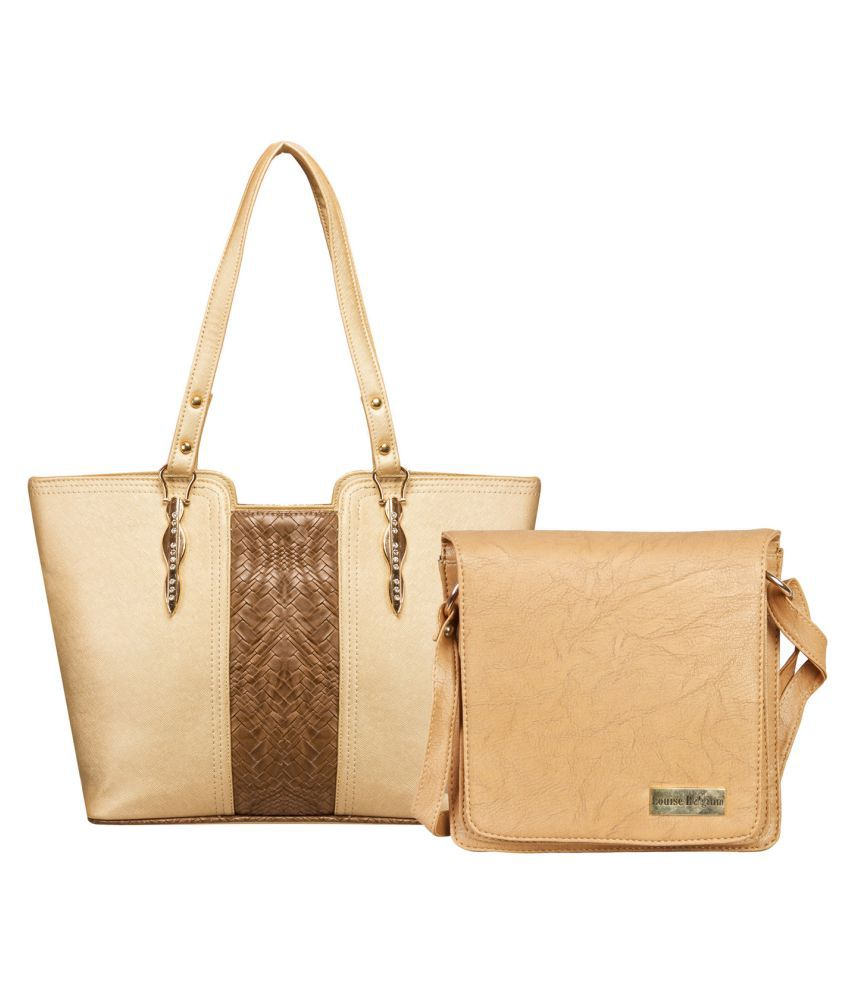 Louise Belgium Beige Artificial Leather Combo