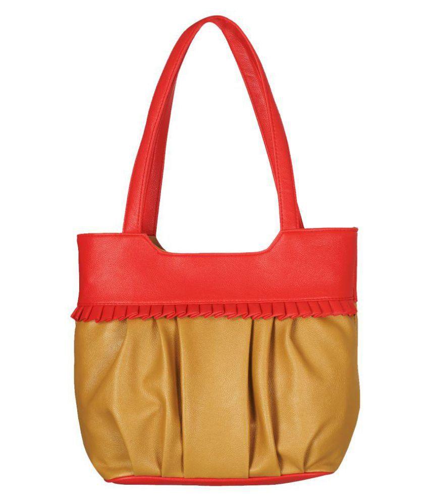 Fristo Tan P.U. Shoulder Bag