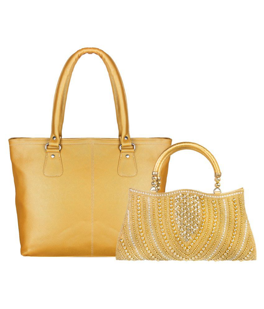 Louise Belgium Golden Artificial Leather Combo