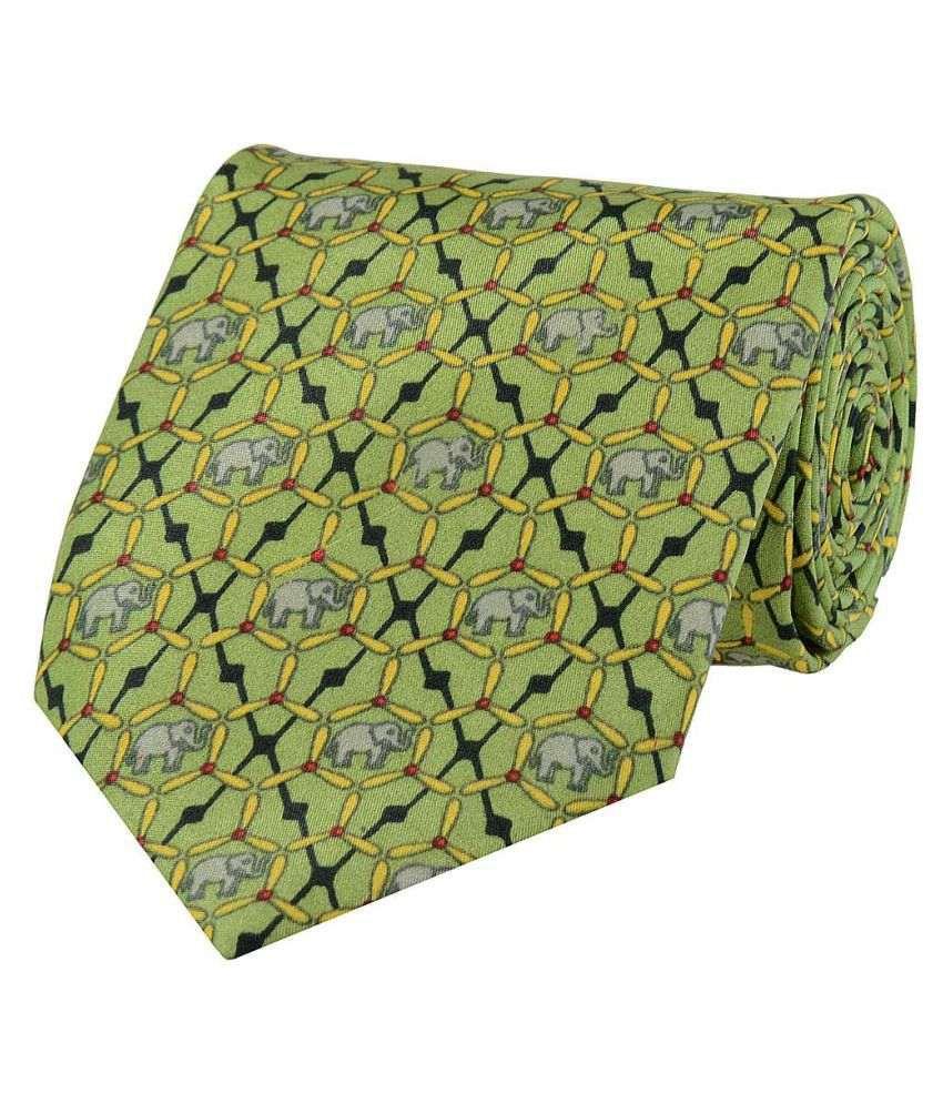 Tiekart Green Casual Necktie