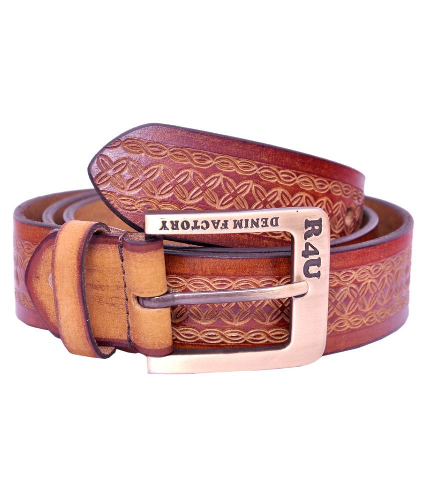 R4U Denim Factory Brown Leather Casual Belts