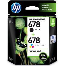 HP 678 Black and Tricolor Ink Combo Pack