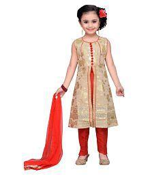 Adiva Girl's Party Wear Kurta and Pyjami Suit Set