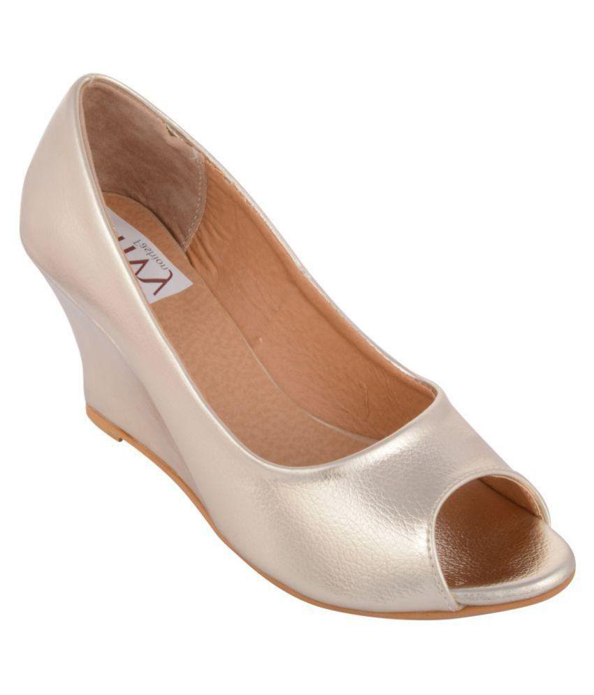 Envy Fashion Silver Wedges Heels