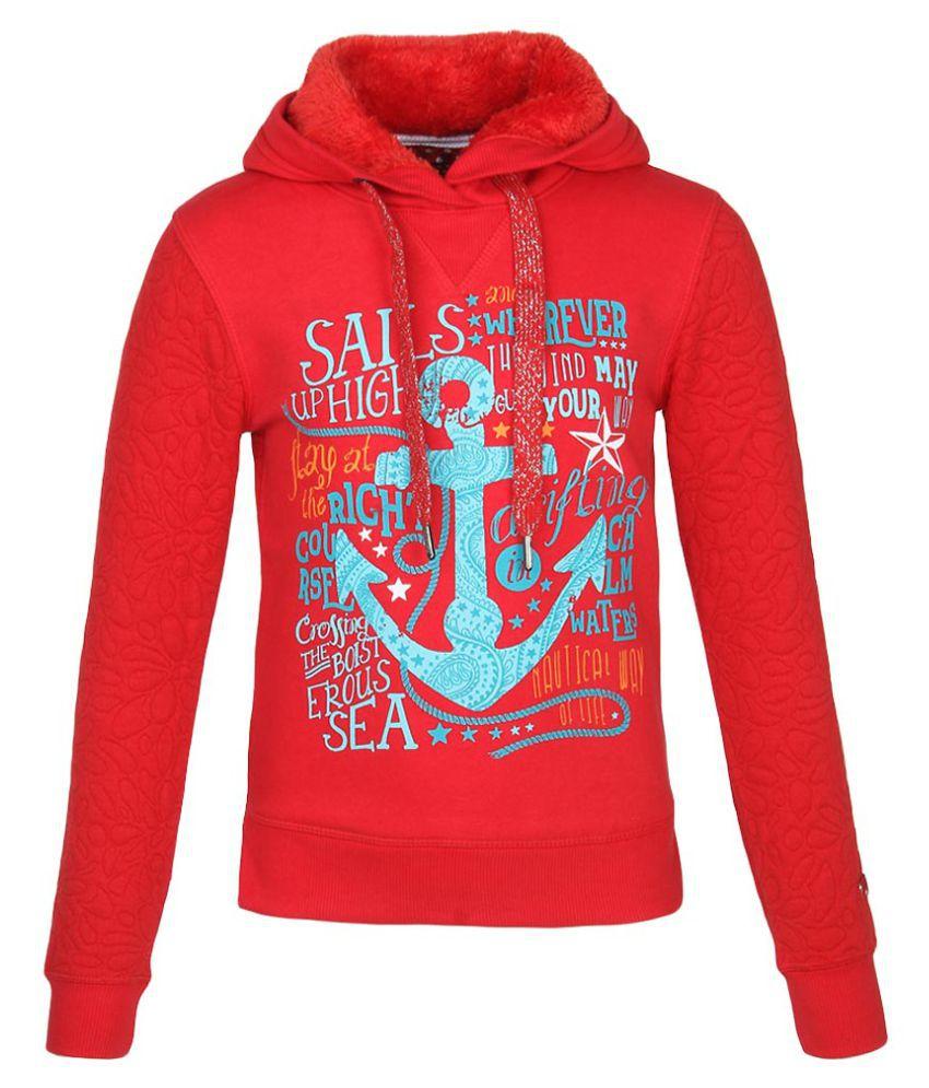 Madame Red Cotton Blend Sweatshirt