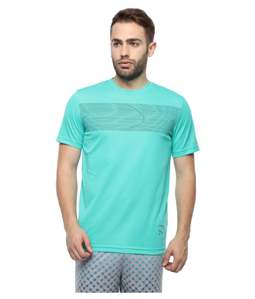 Piranha Sportswear Green Polyester T-Shirt