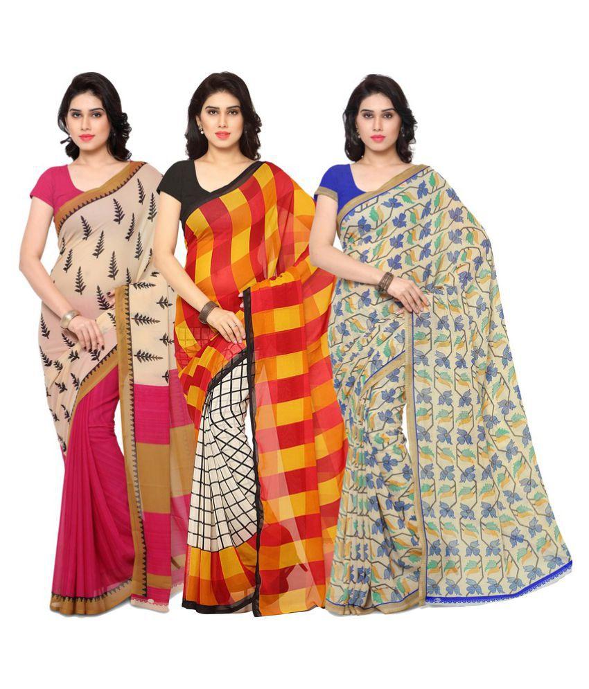 Rajnandini Multicoloured Cotton Saree Combos