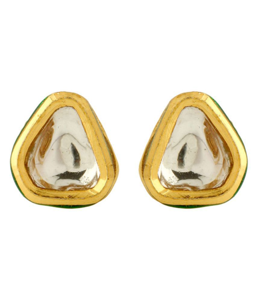 Voylla Golden Studs Earrings