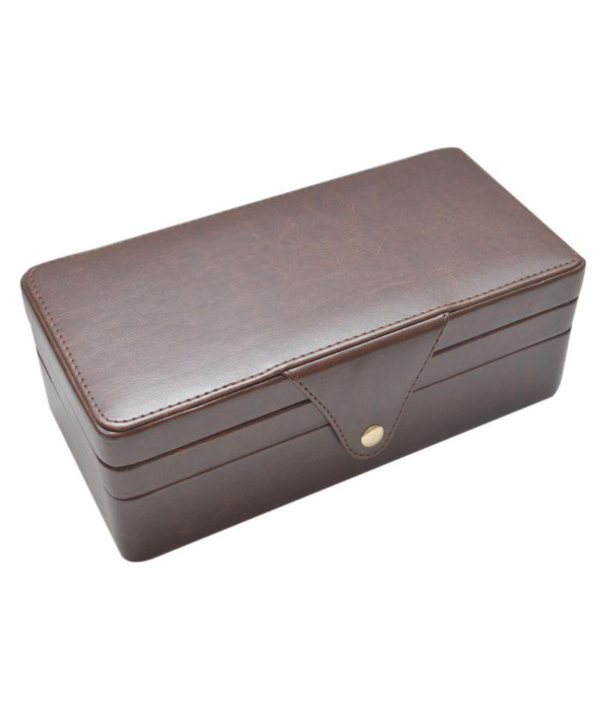 d53af589617 Knott Brown Leather Jewellery Box  Buy Knott Brown Leather Jewellery Box  Online in India on Snapdeal