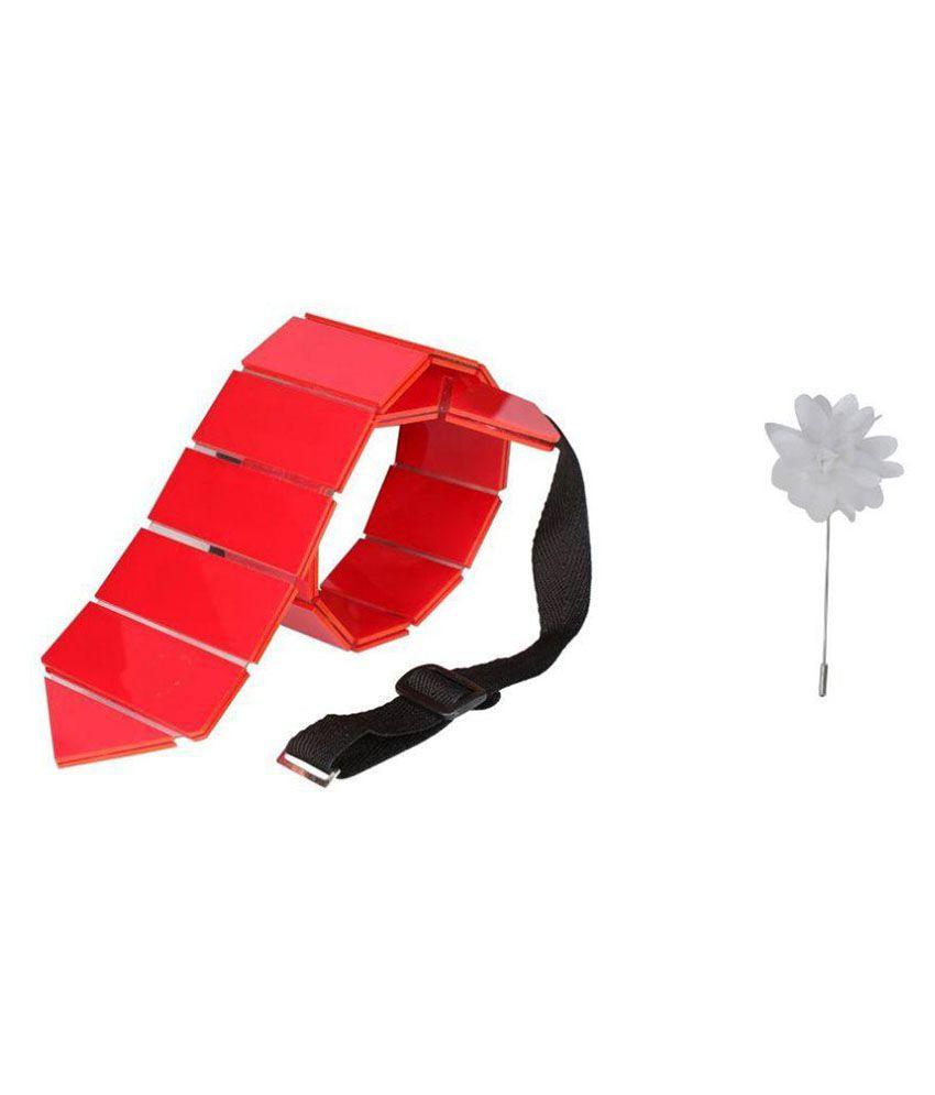 Hex Tie Red Party Necktie
