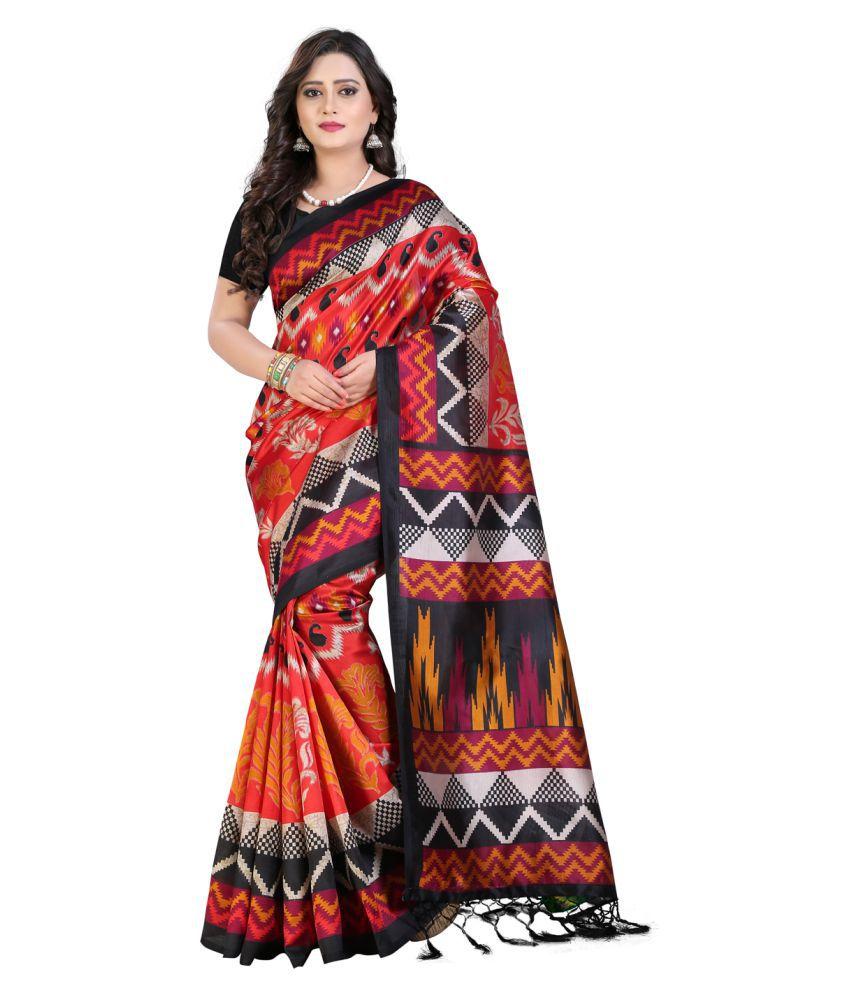 e-Vastram Multicoloured Art Silk Saree