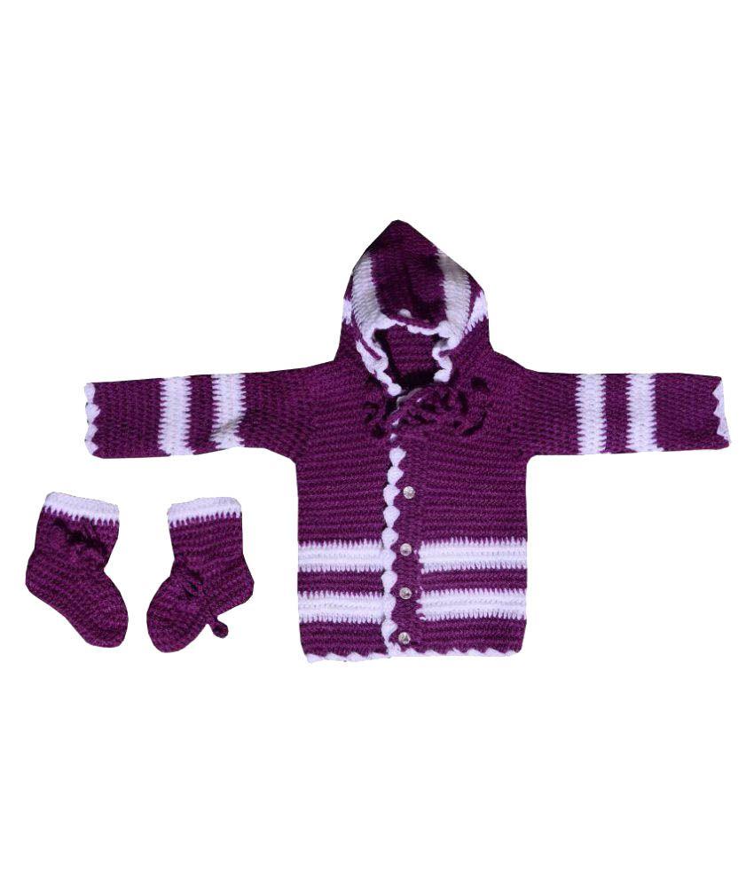 1a2672566 Aarna Apparels Newly Born Baby Sweater with Socks - Buy Aarna ...