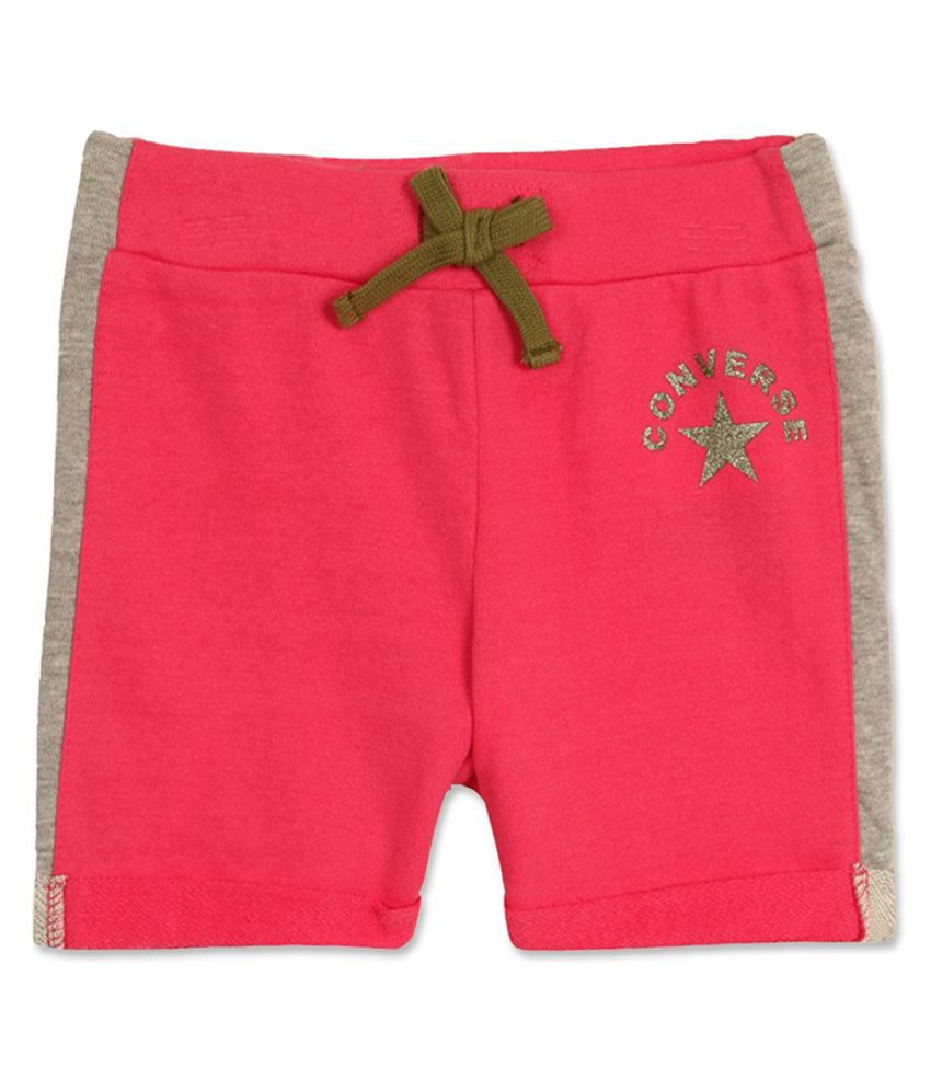 Converse Pink Cotton Shorts