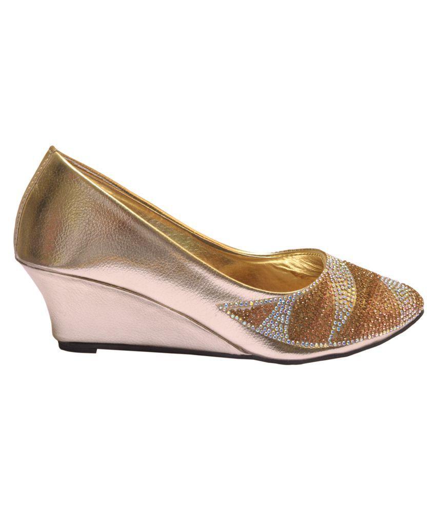 Kamsun Gold Wedges Heels