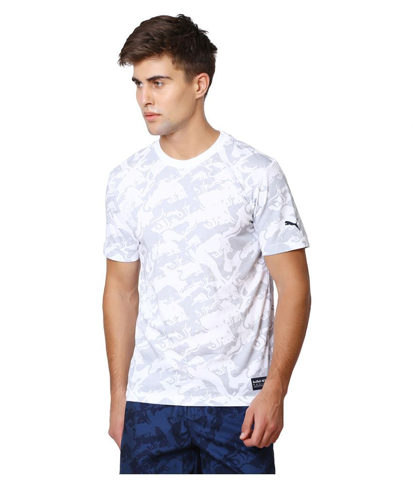 Puma White Polyester T-Shirt Single Pack