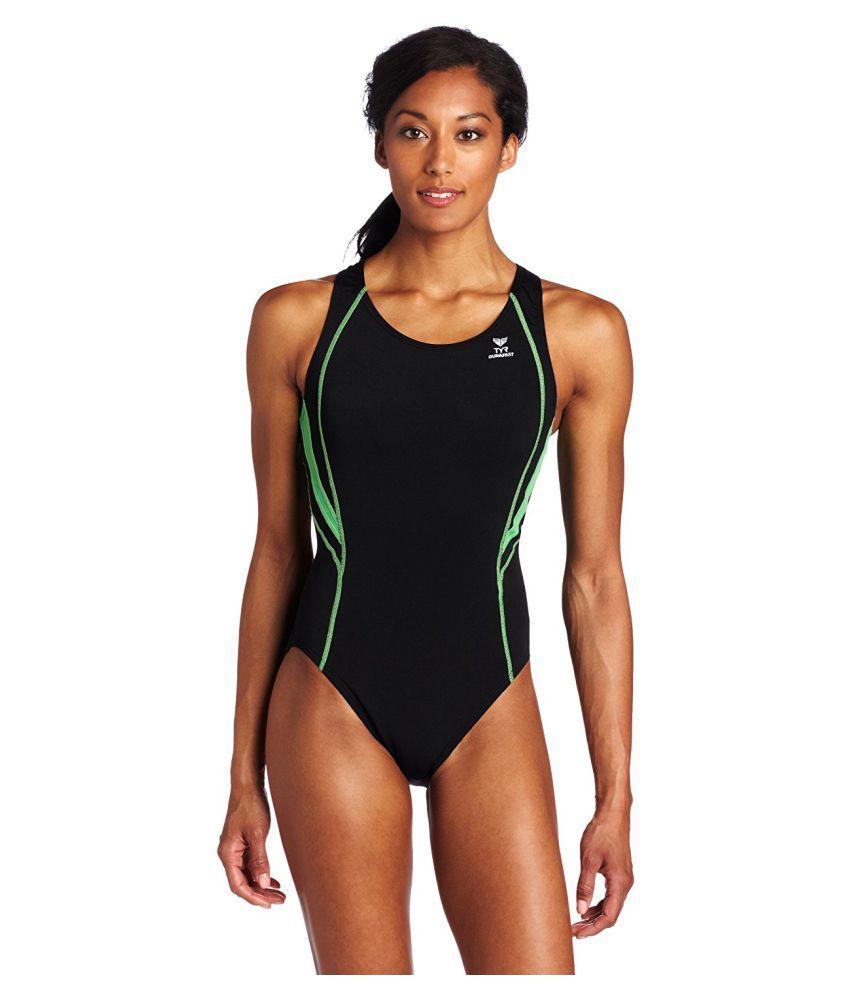 TYR Black Sports Swimsuit/ Swimming Costume