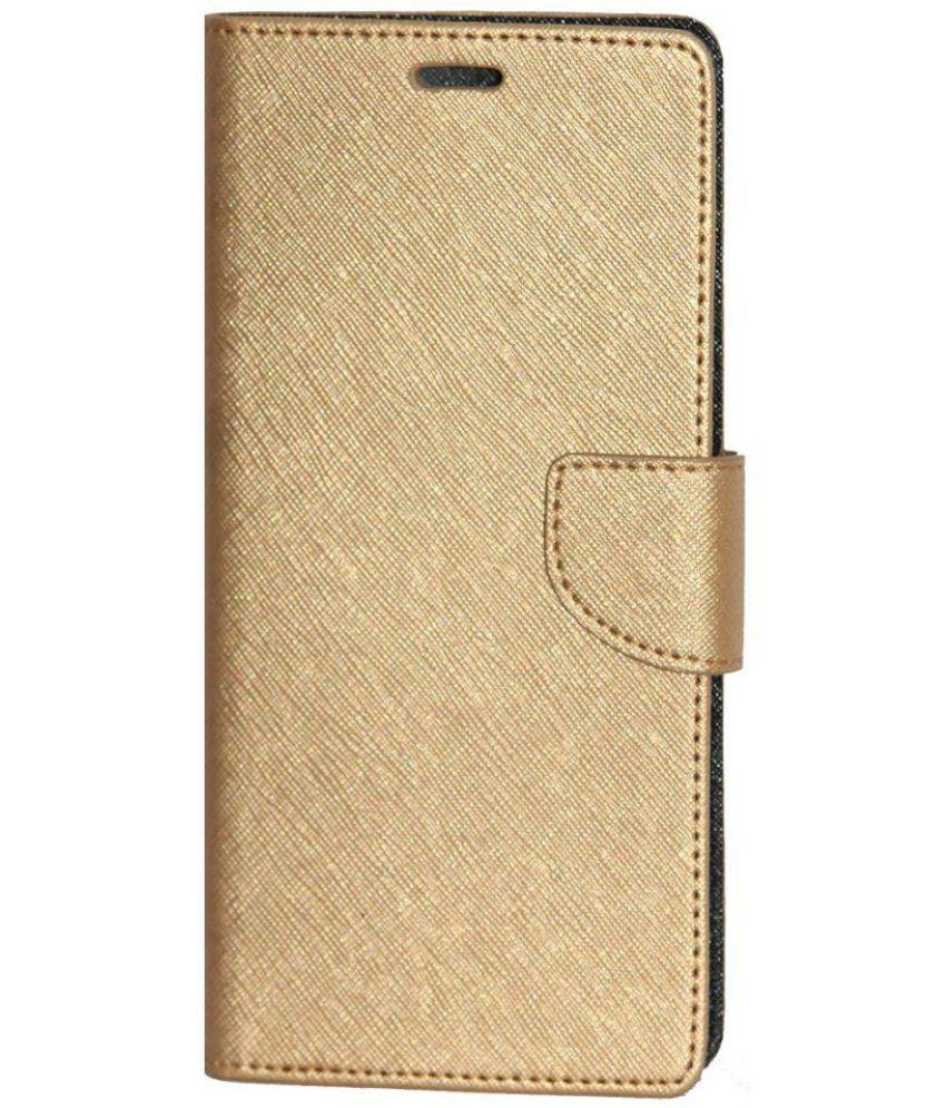 new arrival 1ab40 1d864 Lenovo Phab 2 Plus Flip Cover by Gizmofreaks - Golden