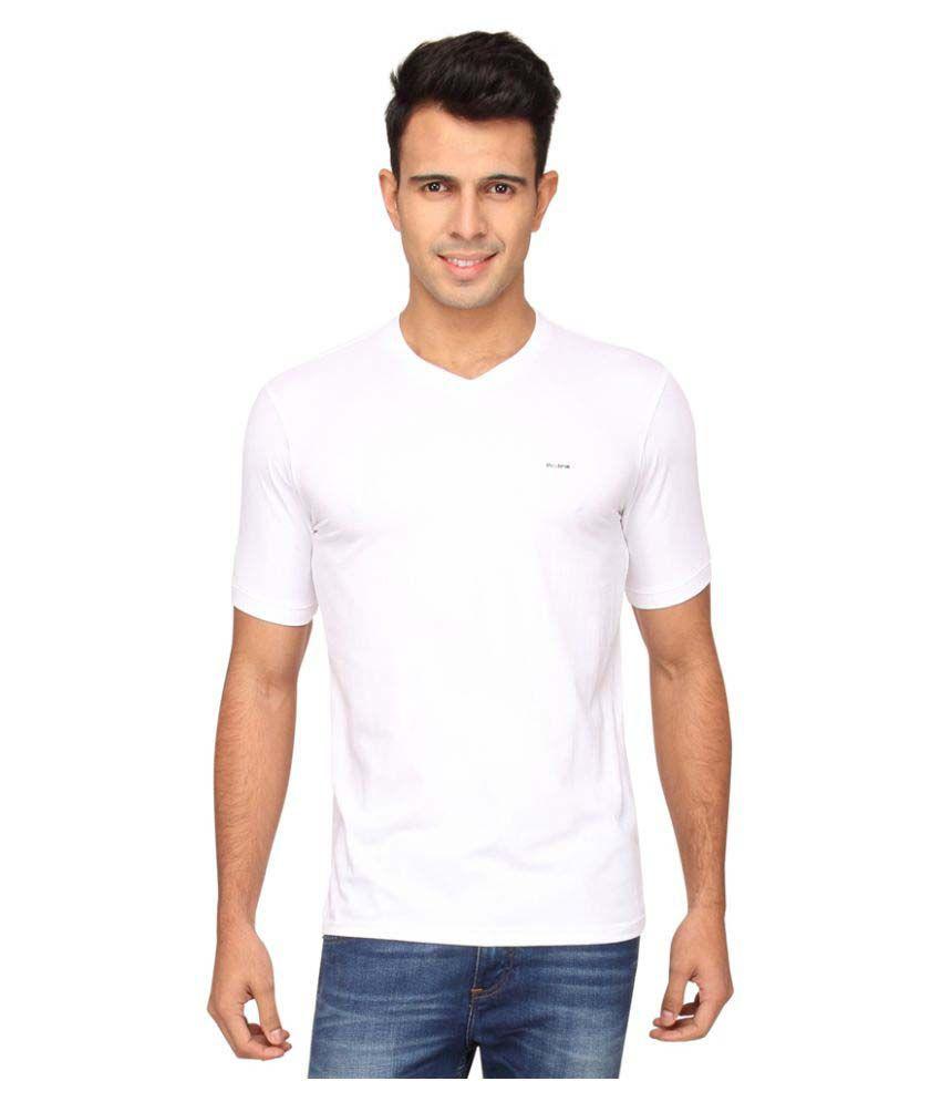 Proline White V-Neck T-Shirt