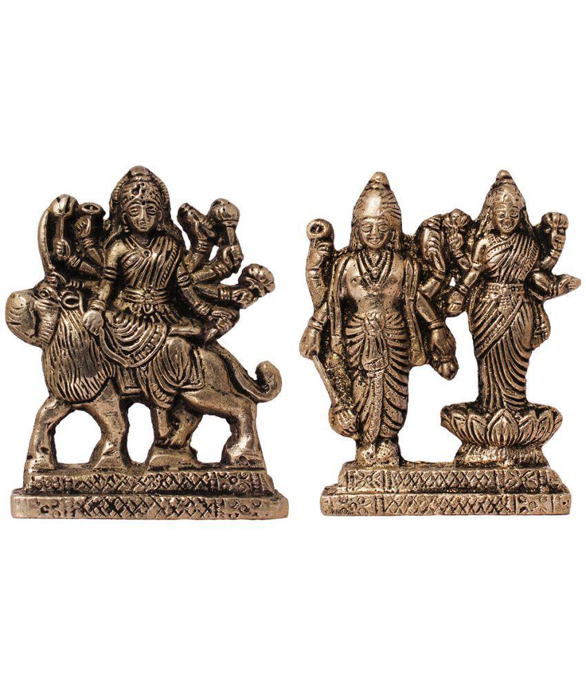 Art N Hub Durga Brass Idol