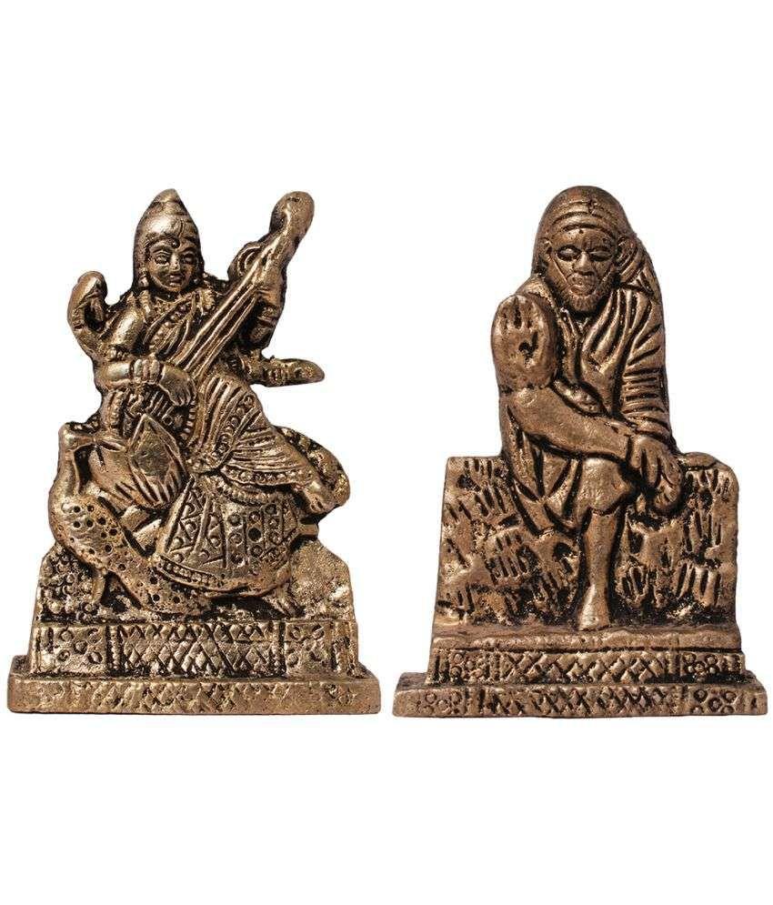 Art N Hub Saraswati Brass Idol