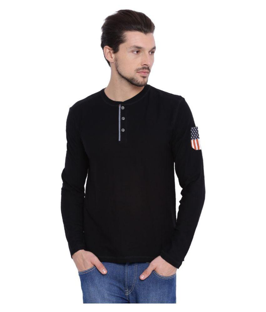 Arise By Beroe Black Henley T-Shirt