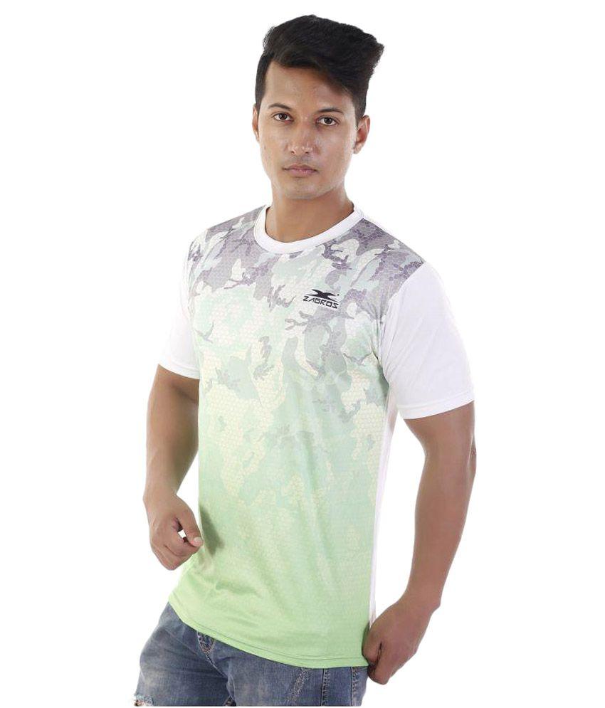 Zagros White Round T-Shirt