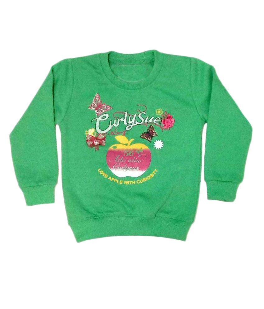 Cuddlezz Green Sweatshirts